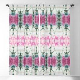 Pink Green and White Summer Shibori Blackout Curtain