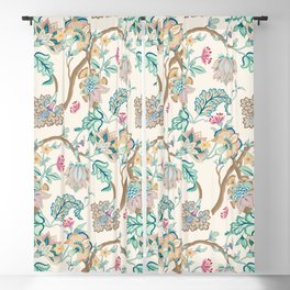 Indian Inspired Pattern Design Blackout Curtain