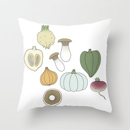 Vegetables (color) Throw Pillow