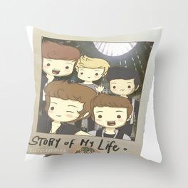 One Direction Story of My Life Cartoon Throw Pillow