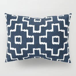 Blue Geometric Pattern Pillow Sham