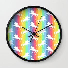 Rainbow Unicorn 2 Wall Clock