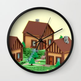 voxel hamlet Wall Clock