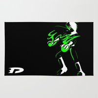 danny haas Area & Throw Rugs featuring Danny Phantom 3 colour by Feniiku
