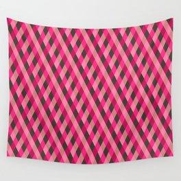 Retro pink geometry pattern Wall Tapestry