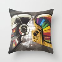 punk Throw Pillows featuring Punk by Digital Sketch
