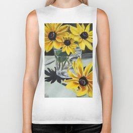 Sunflowers in the Sun Biker Tank