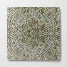 Intricate Snowflake Mandala | Repeating Pattern Metal Print