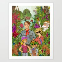 jurassic park Art Prints featuring Jurassic Park by Jennifer Chan