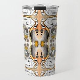 Black & Orange Diamond Dogs Travel Mug