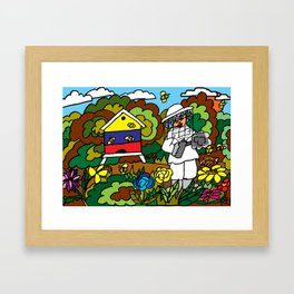 FOR THE LOVE OF BEES AND HONEY Framed Art Print