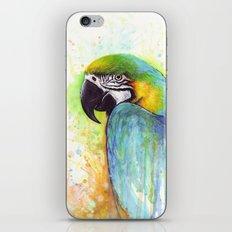 Bird Watercolor Animal Macaw iPhone & iPod Skin