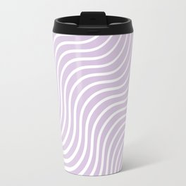 Whiskers Light Purple & White #713 Travel Mug