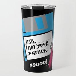USB, I am Your Father | Retro Floppy Disk Travel Mug
