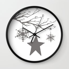 It was the night before Christmas too Wall Clock