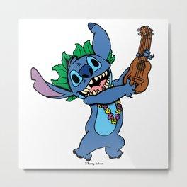 Blue Music Metal Print