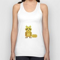 racoon Tank Tops featuring Pixel Racoon by Olivier Boisseau