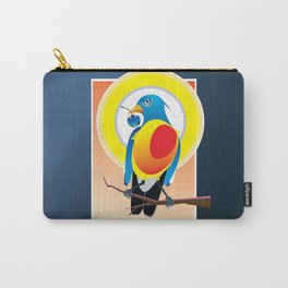 Bird Eye Blue Glass Cherry Carry-All Pouch