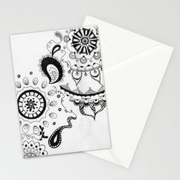 Black and White Boho Stationery Cards
