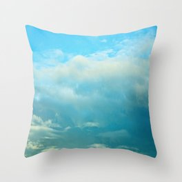 Blue Skys  Throw Pillow