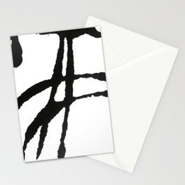 0523: a simple, bold, abstract piece in black and white by Alyssa Hamilton Art Stationery Cards