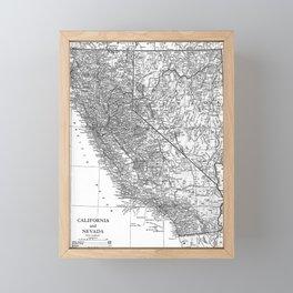 California and Nevada 1911 Framed Mini Art Print