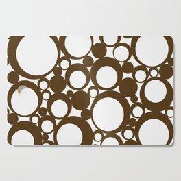 Brown Geometric Abstract Modern Circle Art Cutting Board