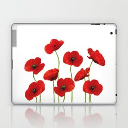 Poppies Field white background Laptop & iPad Skin