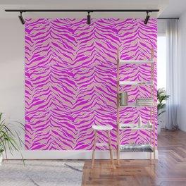 Tiger Print - Pink & Pink Wall Mural