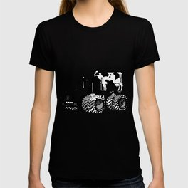 stolen tractor and cow T-shirt