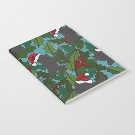 Christmas Dog Pattern Notebook