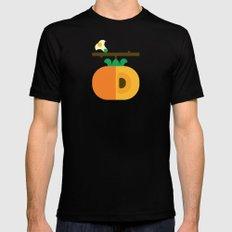Fruit: Persimmon Mens Fitted Tee MEDIUM Black