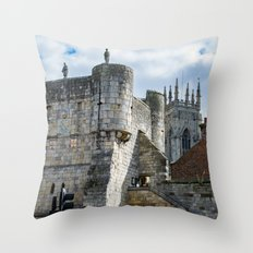Bootham Bar and York Minster Throw Pillow