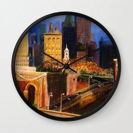 Dawn at City Hall Wall Clock