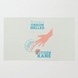 Citizen Kane, minimal movie poster, Orson Welles film, hollywood masterpiece, classic cinema Rug