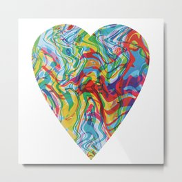 RGB Displacement Heart #2 Metal Print