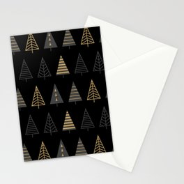 MODERN CHRISTMAS TREES 2 Stationery Cards