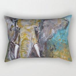 African Elephant Bull Rectangular Pillow