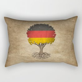 Vintage Tree of Life with Flag of Germany Rectangular Pillow