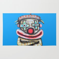 Clown with small advertisement Rug