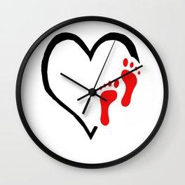I LOVE MY TWO FEET Wall Clock