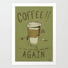 Zombie Coffee Art Print
