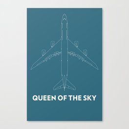 Boeing 747 8 Queen of the sky Canvas Print