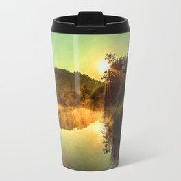 Sunrise at the lake /Sonnenaufgang am See Travel Mug