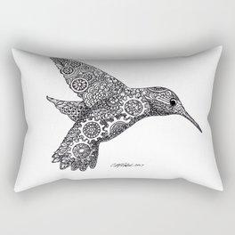 Clockwork Hummingbird Rectangular Pillow