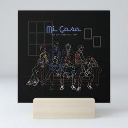 BTS HOME LINE ART Mini Art Print