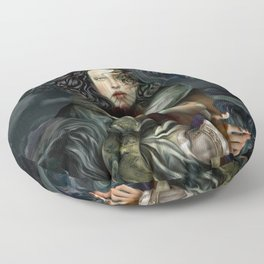 """""""Returning from a Dream Myth Creature"""" Floor Pillow"""