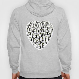 Penguins Clustered into Heart Shape Hoody
