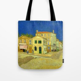 "Vincent Van Gogh ""The yellow house ('The street')"" Tote Bag"