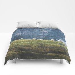 Beartooth Mountain Goats Comforters
